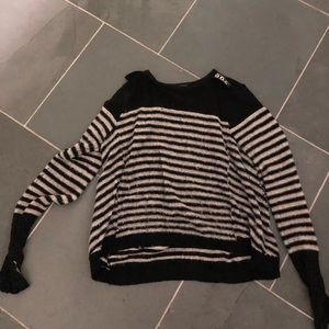 Black and white Free People Small Sweater